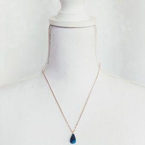 Jewelry - Noma Crochet Beaded Turquoise Stone Necklace